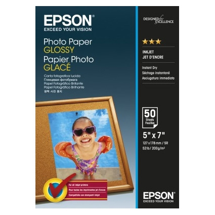 Epson Photo Paper Glossy C13S042545 13x18cm, 50 coli, 200g