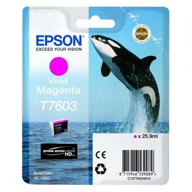 Epson T7603 - Cartus Vivid Magenta pentru Epson P600