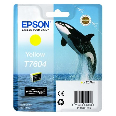 Epson T7604 - Cartus Yellow pentru Epson P600