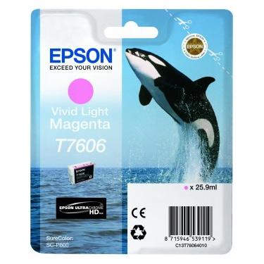Epson T7606 - Cartus Vivid Light Magenta pentru Epson P600