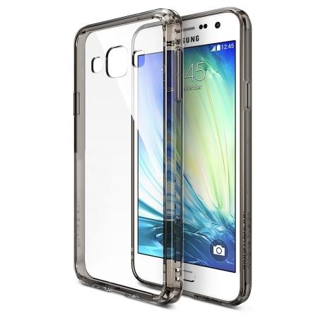 FUSION SMOKE BLACK Husa Samsung Galaxy A5 Ringke + BONUS folie protectie display Ringke