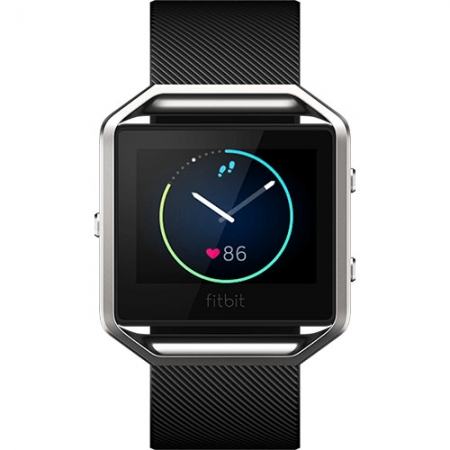 FitBit Blaze - Smartwatch Fitness Wireless, Marimea S - Negru