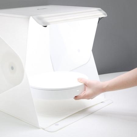 Foldio set 2 - cub led 40x40cm cu masa rotativa