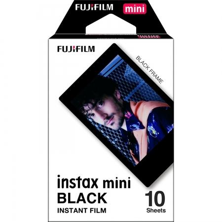 Fujifilm Instax Mini Black Film - Film instant, 10 bucati