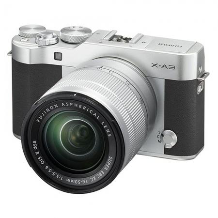 Fujifilm X-A3 Argintiu XC 16-50mm F3.5-5.6 OIS II