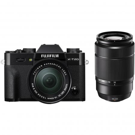 Fujifilm X-T20 Kit 16-50mm + 50-230 mm, Negru