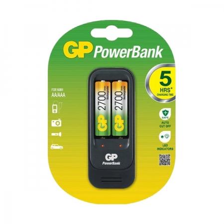 GP GPPB560GS270 - incarcator Ni-MH R3/R6 + 2 x R6 2700mAh