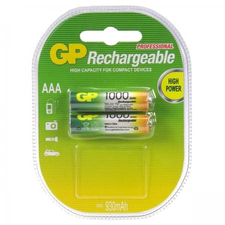 GP Rechargeable AAA - set 2 acumulatori R3 NIMH - 1000mAh
