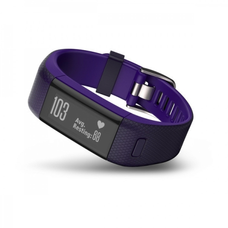 Garmin Vivosmart HR+ - Bratara inteligenta fitness, mov