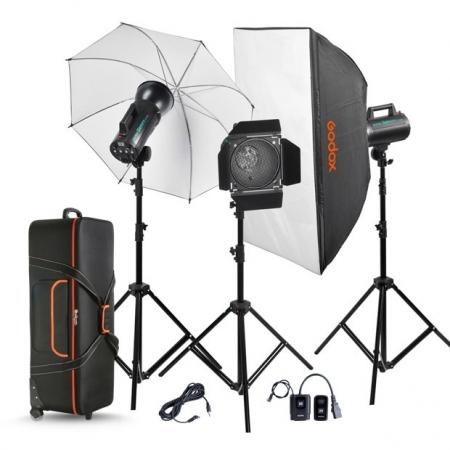 Godox GS200-D GS Studio Kit 3 blituri 200W
