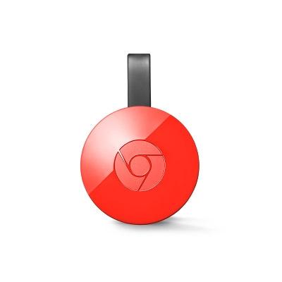 Google Chromecast 2.0 - media player digital cu HDMI - rosu