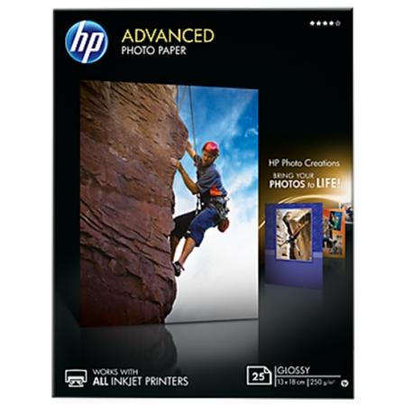 HP Photo Advanced Glossy Photo Paper 10x15cm 25coli