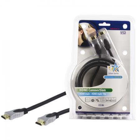 HQ HQSS5550-2.5 - cablu HDMI mare-mare, 2.5m