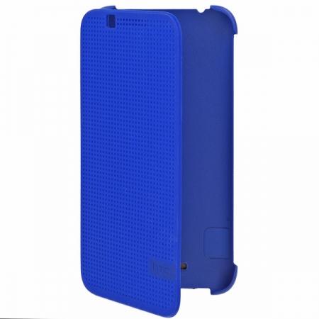 HTC (HC M140) - Husa agenda DOT View pentru Desire 620 - albastru