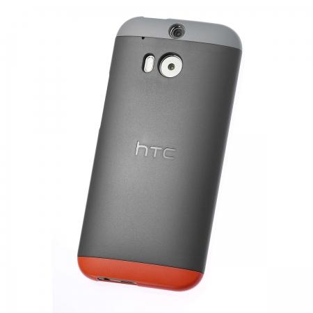 HTC HC C940 - Husa rigida Double Dip pentru HTC One M8 - gri