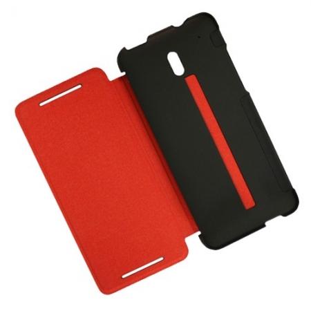 HTC HC V851 - Husa Double Dip - Flip pentru HTC One Mini - Negru rosu