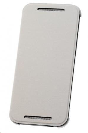HTC HC V970 - Husa tip Flip, deschidere orizontala pentru HTC ONE Mini 2- Alb