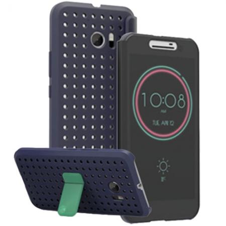 HTC Ice View - Husa de tip Agenda pentru HTC 10, Albastru