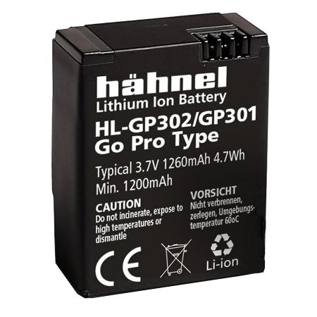 Hahnel HL-GP301/302 acumulator Li-Ion tip GoPro AHBDT-301 / 302 (3.7V 1260mAh 4.7Wh)