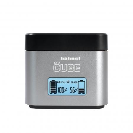Hahnel ProCube - Incarcator pentru Canon LP-E6/E8/E17 + AA si USB 2.1A