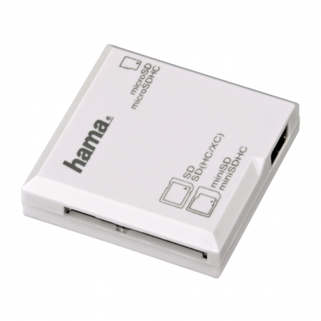 Hama Cititor de Carduri All in One USB 2.0, Alb