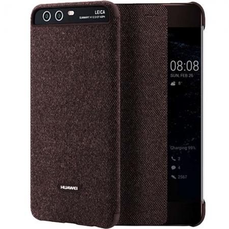 Huawei Flip Smart View Cover - Husa de protectie pentru Huawei P10 - Maro