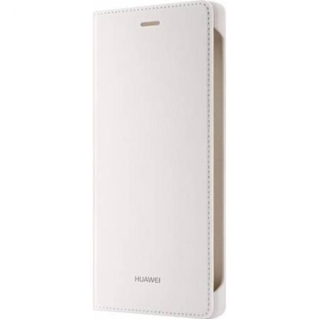 Huawei P8 Lite - Husa tip Flip Cover - Alb