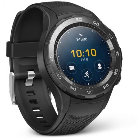 Huawei Watch 2 - Smartwatch cu Bluetooth si slot SIM, Negru