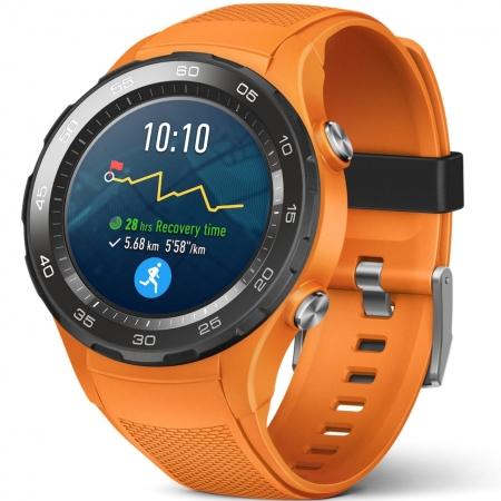 Huawei Watch 2 - Smartwatch cu Bluetooth si slot SIM, Portocaliu