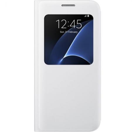 Husa Agenda S View pt. Samsung Galaxy S7 - Alb