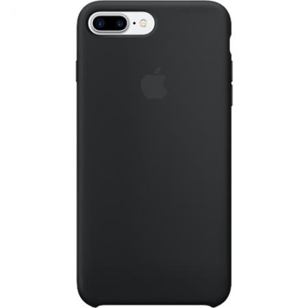 Husa Capac Spate APPLE Silicon Negru Apple iPhone 7 Plus - RS125030527
