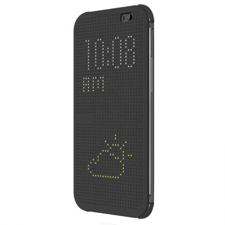 Husa Dot View pentru HTC One M8 - Negru
