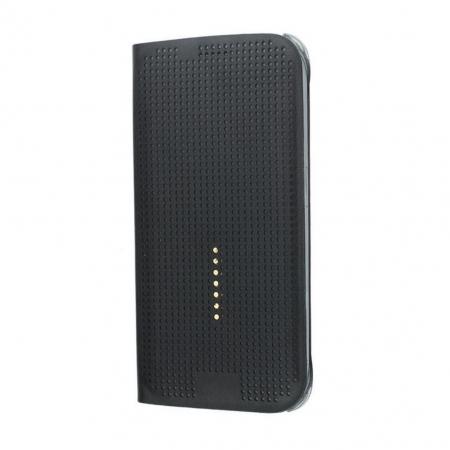 Husa Dot View pentru Samsung S6 Edge - Negru