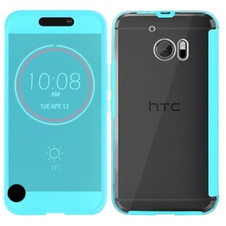 Cronos Ice View - Husa pentru HTC 10 - Bleu