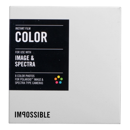 Impossible Color White Frame - film pentru Polaroid Spectra