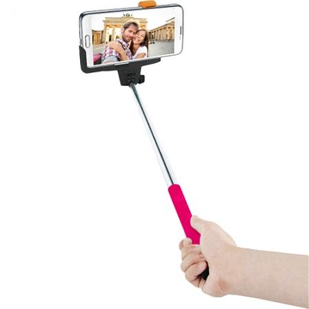 Innovatec - Selfie Stick cu telecomanda incorporata - roz