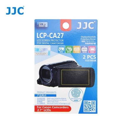 JJC - Folie protectie LCD pentru Camere Video Canon, 2.7