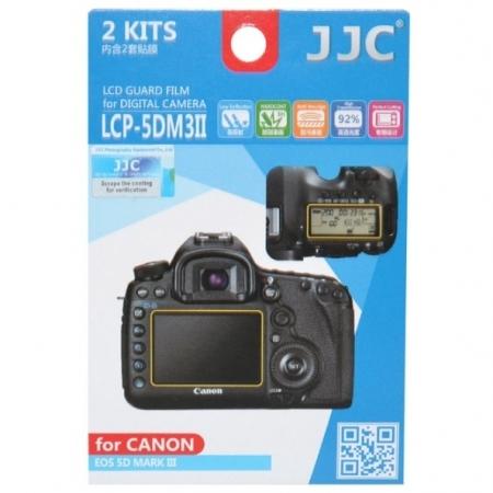 JJC - Folie protectie LCD pentru Canon EOS 5D Mark IV/ 5D Mark III, EOS 5Ds/ 5DsR, 2 buc.