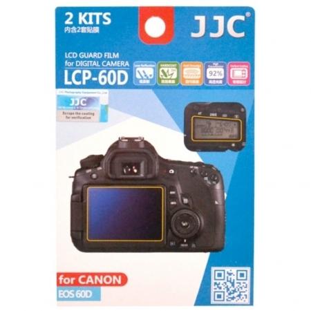 JJC -  Folie protectie LCD pentru Canon EOS 60D, 2 buc.