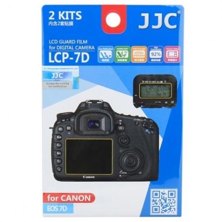 JJC - Folie protectie LCD pentru Canon EOS 7D, 2 buc.