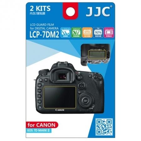 JJC - Folie protectie LCD pentru Canon EOS 7D Mark II, 2 buc.