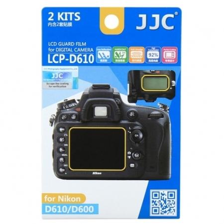 JJC - Folie protectie LCD pentru Nikon D610/ D600, 2 buc.