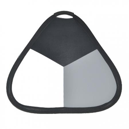 Blenda triunghiulara reflexie alb/balans de alb