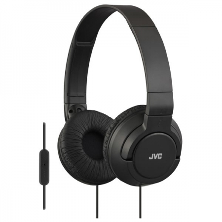 JVC HA-SR185-B-E  Casti tip DJ; ultra-usoare; telecomanda si microfon pe fir; pliabile - negru