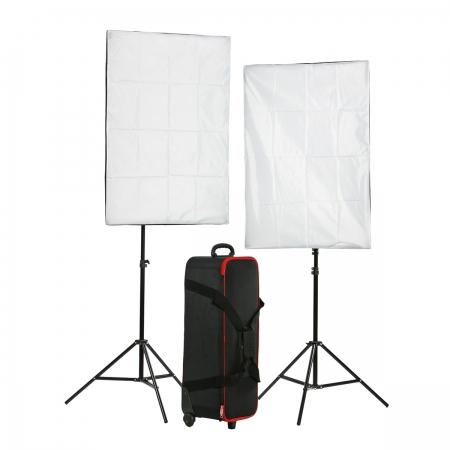 Kast STA-300 set 2 blituri 300Ws + 2 softboxuri 60x80 + 2 stative 200cm