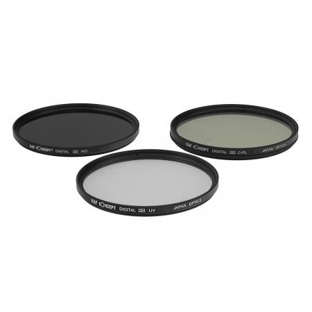 KentFaith UV + CPL + ND8 77mm