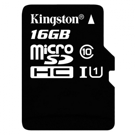 Kingston 16GB microSDHC clasa 10 UHS-1 45mb/s + adaptor SD