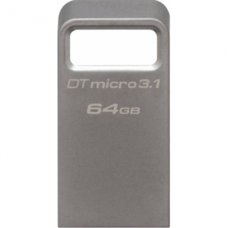 Kingston 64GB DTMicro USB 3.1/3.0 Type-A metal ultra-compact flash drive