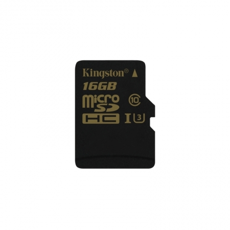 Kingston Gold microSDHC - Card 16GB, Clasa UHS-I U3, 90R/45W