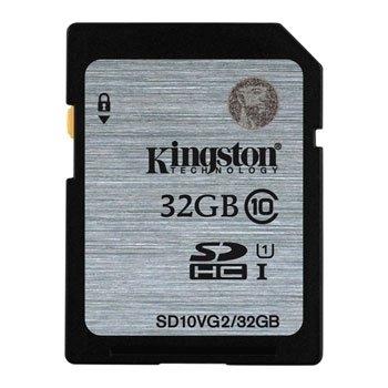 Kingston SDHC 32GB Class 10 UHS-I 90MB/s read 45MB/s write Flash Card